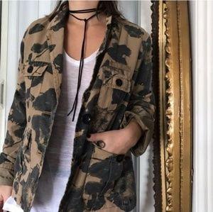 J. Crew Black Blossom Khaki Utility jacket/ blazer